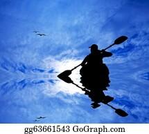 Canoe - Kayak Silhouette