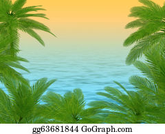 Palm-Tree - Palm Trees Und Hibiscus Flowers Frame