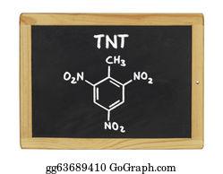 Tnt - Chemical Formula Of Tnt On A Blackboard