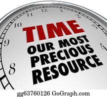 Appreciation - Time Our Most Precious Resource Clock Shows Value Of Life
