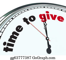 Fundraiser - Time To Give - Ornate Clock