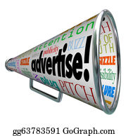Public-Speaking - Advertise Bullhorn Megaphone Words Of Marketing