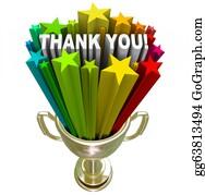 Appreciation - Thank You Trophy Recognition Appreciation Of Job Efforts
