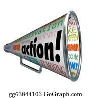 Perform - Action Words Bullhorn Megaphone Motivation Mission