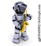 Sax - Robot Playing The Saxophone