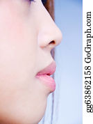 Sense-Of-Smell - Woman Profil With Small Nose An Sensual Lips