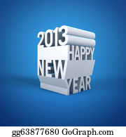 2013-Happy-New-Year-Happy-New-Year - Cube Text Of 2013 Happy New Year