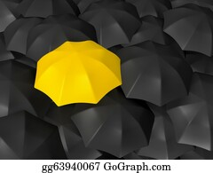 Umbrella - Difference Of Yellow Umbrella