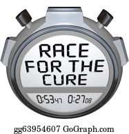 Fundraiser - Stopwatch Timer Race For The Cure Clock Time