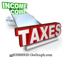 Income-Tax - Income Taxes Scale Balance Figuring Refund Deductions