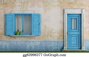 Front-Door - Facade Of An Old House