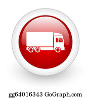 Time-For-Shopping - Delivery Red Circle Glossy Web Icon On White Background