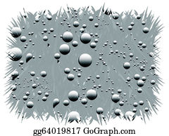 Color-Rain - Droplets Of Water. Illustration.