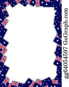 Australian - Australia Flag Border