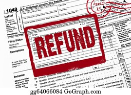 Income-Tax - Refund Stamp On Tax Form