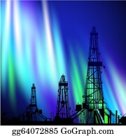 Drilling-Rig - Oil Derrick Background.