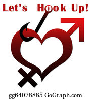 Fishhook - Heart Shape With Lets Hook Up Text