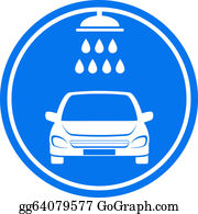 Wash - Blue Car Wash Icon