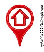 House-Alarm-Concept-Icon - House Traffic Sign On White Background. Isolated 3d Image