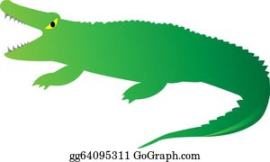 Cute-Animal-Cartoon-In-The-Jungle - Cute Looking A Crocodile On White Background
