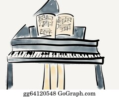 Music-Notes-On-Piano-Keyboard - Grand Piano