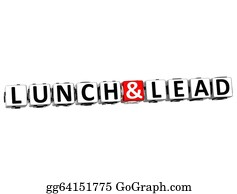 Lunch - 3d Lunch And Lead Button Click Here Block Text