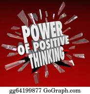 Positive - The Power Of Positive Thinking Words 3d Saying Attitude