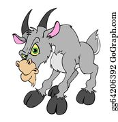 Goat-Cartoon - Angry Billy Goat