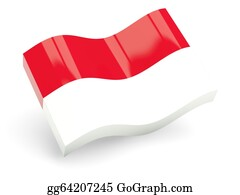 Indonesia -  3d Flag Of Indonesia