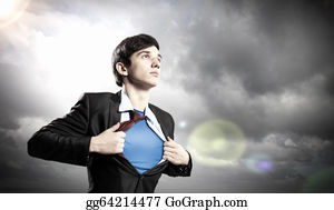 Superman - Young Superhero Businessman