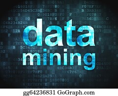 Mining - Data Concept: Data Mining On Digital Background