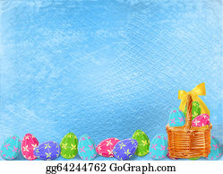 Orthodox - Pastel Background With Multicolored Eggs To Celebrate Easter