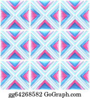 Vintage-Floral-Blue-Frame-Vector - Watercolor Blue And Pink  Pattern