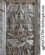 Mai - Silver Struck Panels In Silver Temple Wat Sri Suphan