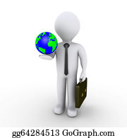 Recycle-Technology - Businessman Holding Earth