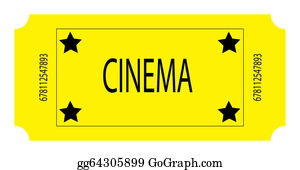 Admission-Ticket - A Yellow Cinema Ticket