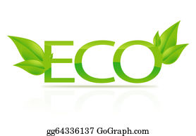 Leaf-And-Oxygen - Illustration Of Eco Sign