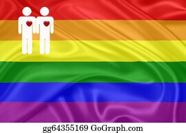 Same-Sex-Wedding - Rainbow Gay Flag