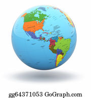 Map-Of-India - Political World Globe On White Background. 3d