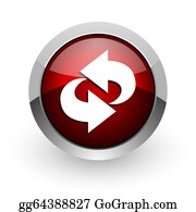 Recycle-Technology - Rotate Red Circle Web Glossy Icon