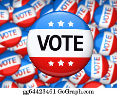 Badge - Vote Election Campaign Badge
