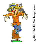 Scarecrow - Happy Scarecrow & Friend