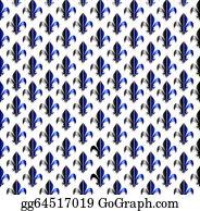 Fleur-De-Lys - Fleur-De-Lis Seamless Pattern