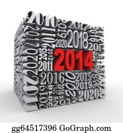 2014-Happy-New-Year-Box - 3d 2014 New Year Cube