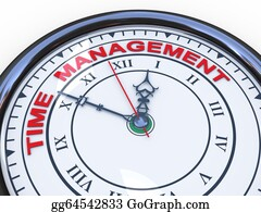 Management - 3d Time Management Clock