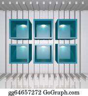 Trestle - 3d Blue Shelves