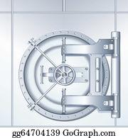 Hard-Cash - Illustration Of Bank Vault Door