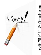 Condolences - Say Sorry With A Text Message On Paper And Pencil