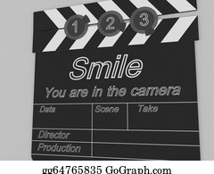Movie-Production - Movie Production Clapper Board Notifying To The People That Smile You Are In The Camera