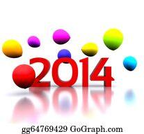 2013-Happy-New-Year-Happy-New-Year - 3d Illustration - 2014